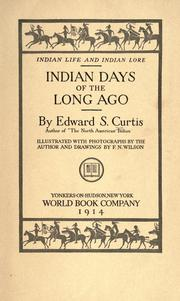 Cover of: Indian days of the long ago