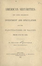 Cover of: American securities