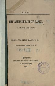 Cover of: The Ashtadhyayi. by Panini.
