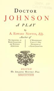 Cover of: Doctor Johnson