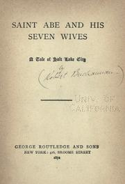 Cover of: Saint Abe and his seven wives