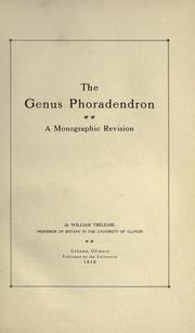 Cover of: The genus Phoradendron