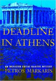 Cover of: Deadline in Athens: An Inspector Costas Haritos Mystery