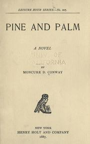 Cover of: Pine and palm