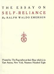 Cover of: The essay on self-reliance