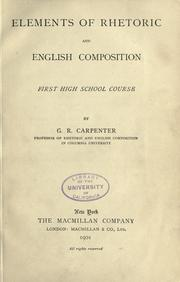 Cover of: Elements of rhetoric and English composition