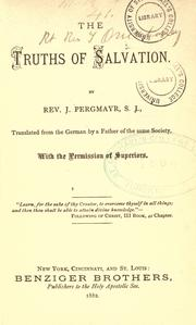 Cover of: The Truths of salvation by Joseph Pergmayr