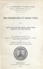 Cover of: The determination of generic types
