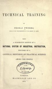 Cover of: Technical training