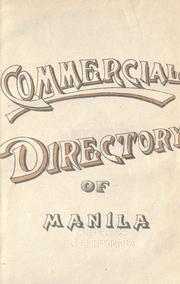Cover of: Commercial directory of Manila. by