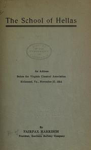 Cover of: The school of Hellas