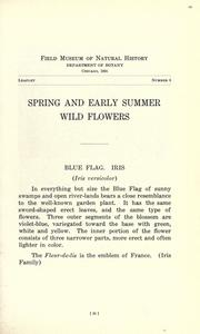 Cover of: Spring and early summer wild flowers