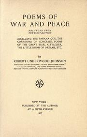 Poems of war and peace (1917 edition) | Open Library