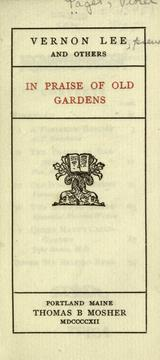 Cover of: In praise of old gardens
