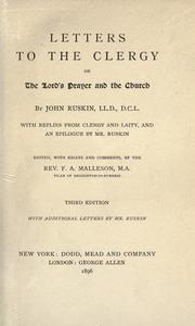 Cover of: Letters to the clergy on the Lord's Prayer and the Church