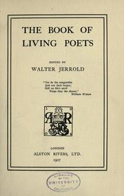 Cover of: The book of living poets