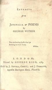 Cover of: Extracts from Juvenilia