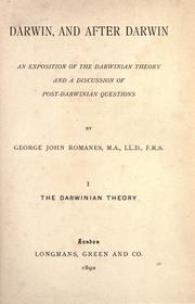 Darwin and after Darwin by George John Romanes