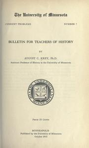 Cover of: Bulletin for teachers of history