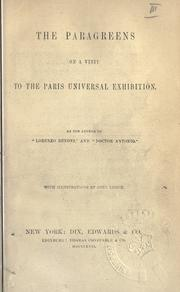 Cover of: The Paragreens on a visit to the Paris universal exhibition | Giovanni Domenico Ruffini
