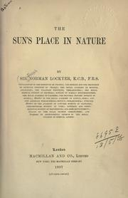 Cover of: The sun's place in nature | Lockyer Sir Joseph Norman