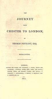 Cover of: The journey from Chester to London