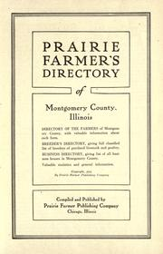 Cover of: Prairie farmer's directory of Montgomery County, Illinois by