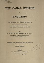 Cover of: The canal system of England