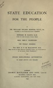 Cover of: State education for the people