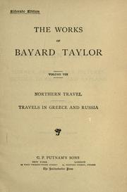 Cover of: Northern travel ; Travels in Greece and Russia