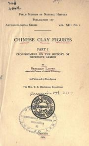Cover of: Chinese clay figures