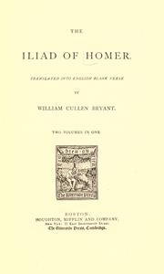 Cover of: The Iliad of Homer by Homer