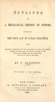 Cover of: Outlines of a mechanical theory of storms