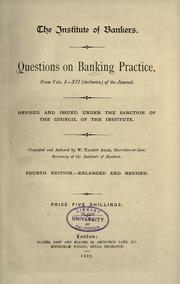 Cover of: Questions on banking practice from vols. I-XII