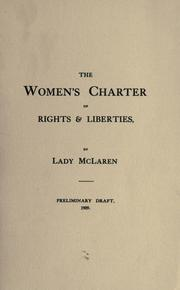 The Women's charter of rights & liberties by Aberconway, Laura Elizabeth Pochin McLaren Baroness.