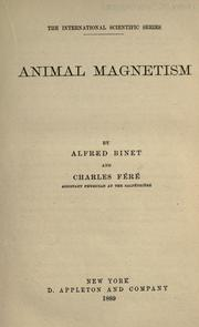 Cover of: Animal Magnetism