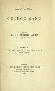 Cover of: George Sand |