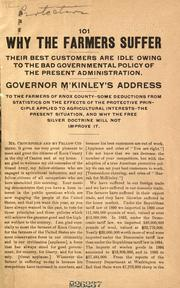 Why the farmers suffer by McKinley, William