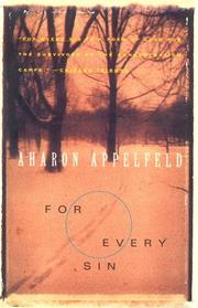 Cover of: For Every Sin (Appelfeld, Aharon)