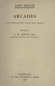 Cover of: Arcades