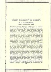 Cover of: Croce's philosophy of history