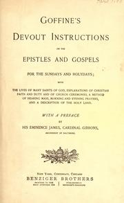 Cover of: Goffine's Devout instructions on the Epistles and Gospels for the Sundays and holydays by