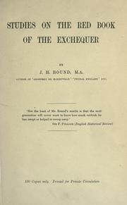 Cover of: Studies on The Red book of the Exchequer. by John Horace Round