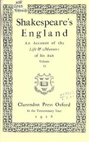 Cover of: Shakespeare's England by