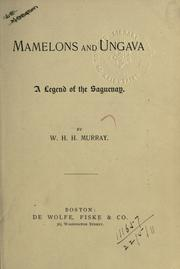 Cover of: Mamelons, and Ungava