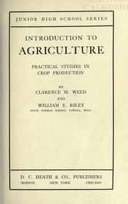 Cover of: Introduction to agriculture