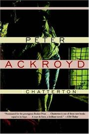 Cover of: Chatterton | Peter Ackroyd