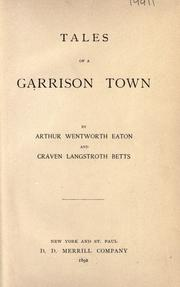 Cover of: Tales of a garrison town