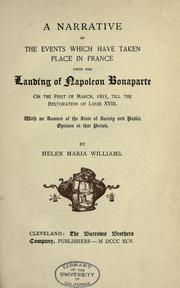 A narrative of the events which have taken place in France by Helen Maria Williams