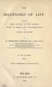 Cover of: The beginnings of life